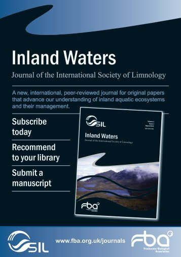 Inland Waters - Freshwater Biological Association