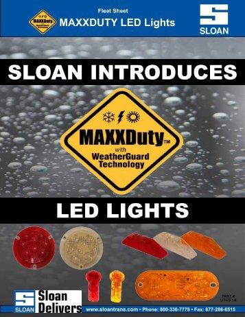 MAXXDuty LED Lights - Sloan Transportation Products