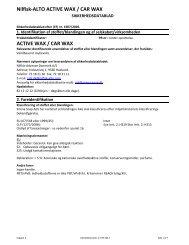 active wax - Nilfisk-ALTO