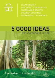 Five Good Ideas for a Sustainable Future by Property Council of ...