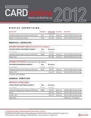 DISPLAY ADVERTISING MONTHLY SERVICES ANNUAL ... - Digital