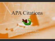 APA Citations - AUS Library