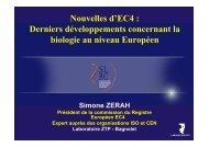 Biologie européenne : Nouvelles d'EC4 - SLBC