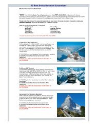 10 Best Swiss Mountain Excursions - 334433