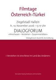 Filmtage Österreich : Türkei in Hallein