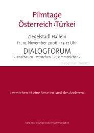 Filmtage Österreich:Türkei - Türkei in Hallein - Salzburg - Austria ...