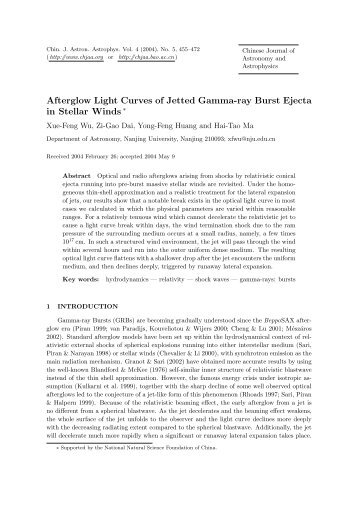 Afterglow Light Curves of Jetted Gamma-ray Burst Ejecta in Stellar ...