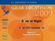 Solar at Night – Solar LED Applications - Solar Decathlon