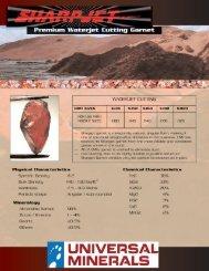 Waterjet Cutting Flyer (PDF) - Universal Minerals, Inc.