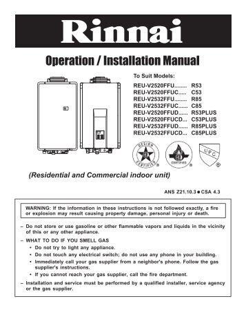 service manual rinnai uk rh yumpu com  rinnai infinity 16 installation manual