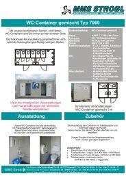 WC-Container gemischt Typ 7060 Ausstattung ... - MMS Strobl GmbH