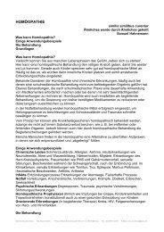 HOMÖOPATHIE - Heilpraktikerin Christina Schenck