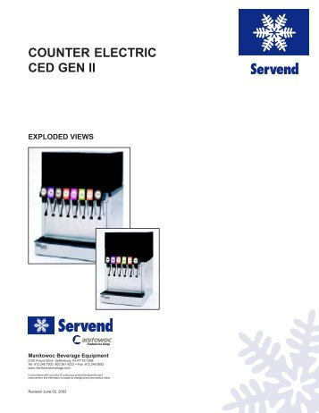 CED GEN II Exploded Views - Manitowoc Beverage Systems