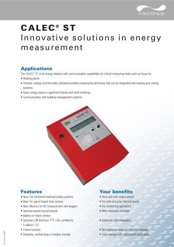 CALEC® ST Innovative solutions in energy measurement