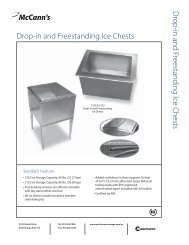 in and Freestanding Ice Chests - Manitowocfsusa.com