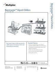 Beermaster™ Glycol Chillers Beermaster™ Glycol Chillers75 • 150 ...