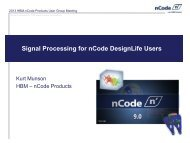 Signal Processing for nCode DesignLife Users - HBM nCode