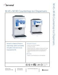 M45 and M90 Ice Dispensers