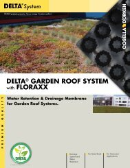 DELTA GARDEN ROOF brochure - Cosella-Dörken Products, Inc