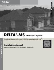 Installation Manual - Cosella-Dörken Products, Inc