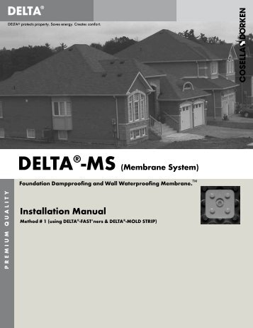 Installation Manual - Cosella-Dörken Products, Inc