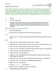 GARDEN ROOF ASSEMBLY Master Guide Specification Page 1 ...