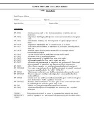 RENTAL PROPERTY INSPECTION REPORT TYPE - Charter ...