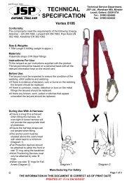 Vertex 8106 Twin Lanyard Technical Specification - Vizwear