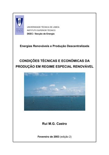 CONDIÇÕES TÉCNICAS E ECONÓMICAS DA PRODUÇÃO EM ...