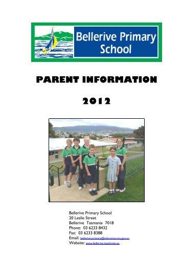 parent information 2012 - Bellerive Primary School - Department of ...