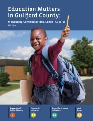 Education Matters in Guilford County: - Guilford Education Alliance