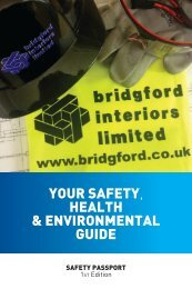 your safety, health & environmental guide - Bridgford Interiors Limited