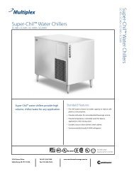 Super-Chil Water Chillers - Manitowoc Beverage Systems