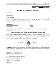 Ridomil/Bravo Twin-Pak (4 Ha) - Syngenta Crop Protection