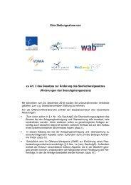 Stellungnahme zur Änderung des Seeaufgabengesetzes ... - wab.biz