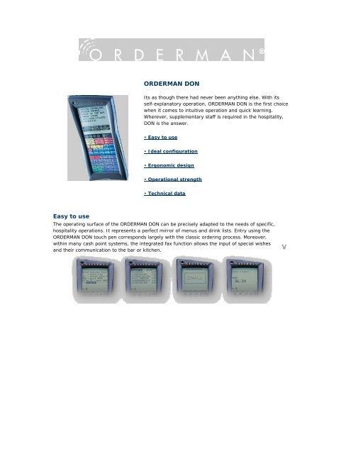 Orderman Don handheld unit as PDF file - pos-master