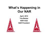 What's Happening in Our NAR - National Association of Rocketry