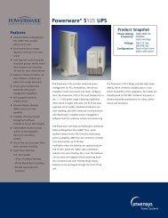 Data Sheet (PDF) - Energy Control Systems