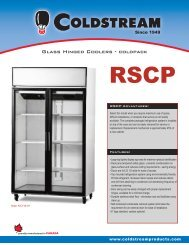 Glass Hinged Coolers - coldpack - Coldstream Products
