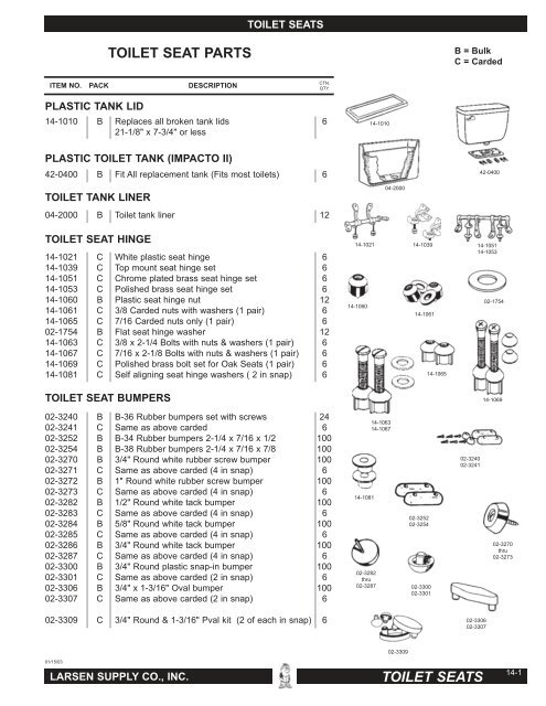 of 2 6-Pack Size 1 6 Piece LASCO 14-1069 Replacement Hinge Brass Bolts Washers and Nuts for Wooden Toilet Seats
