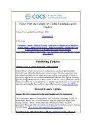 Vol. 2, No. 1 - Center for Global Communication Studies - University ...