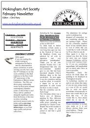February 2011 Newsletter - Wokingham Art Society