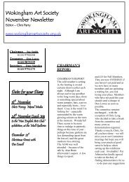 November 2010 newsletter - Wokingham Art Society