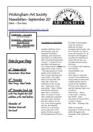 Wokingham Art Society Newsletter- September 2010
