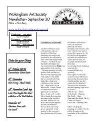 Wokingham Art Society Newsletter- September 2010