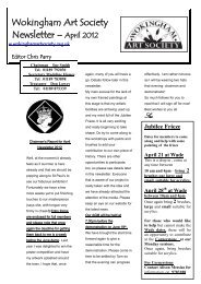 April 2012 Newsletter (pdf, 553 KB) - Wokingham Art Society