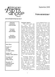 September 2008 newsletter - Wokingham Art Society