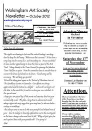 October 2012 Newsletter (pdf, 700KB) - Wokingham Art Society