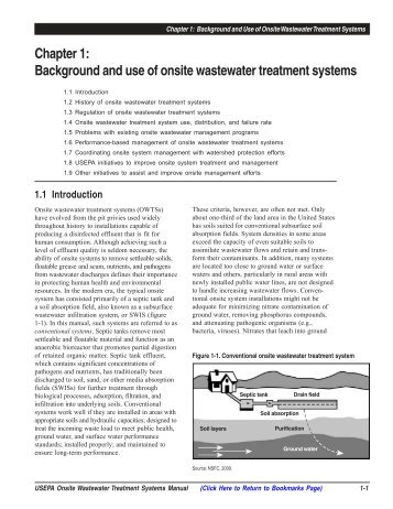 Chapter 1: Background and use of onsite wastewater ... - Norweco