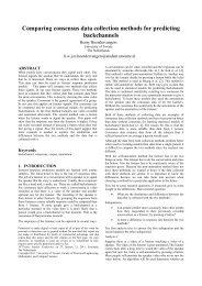 Comparing consensus data collection methods for predicting ...